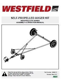 STX Regular Self-Propelled Auger Kit - Assembly & Operation
