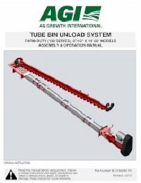 Tube Bin Unload (Farm-Duty, 100 Series) Assembly & Operation
