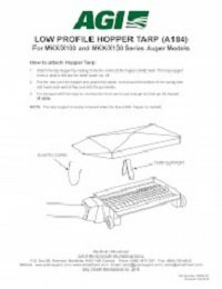 Low Profile Hopper Tarp - MKX/X100 and MKX/X130 Series