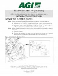STX2 Electric Clutch (Double-Groove Pulley) - Installation