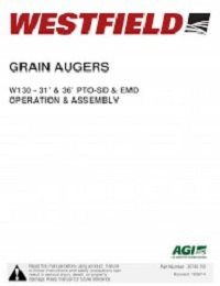 W130 Augers 31', 36' PTO-SD & EMD - Assembly & Operation