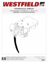 Auger Hydraulic Winch - Assembly & Operation