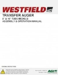 "Transfer Auger 8"", 10"" Tube - Assembly & Operation"