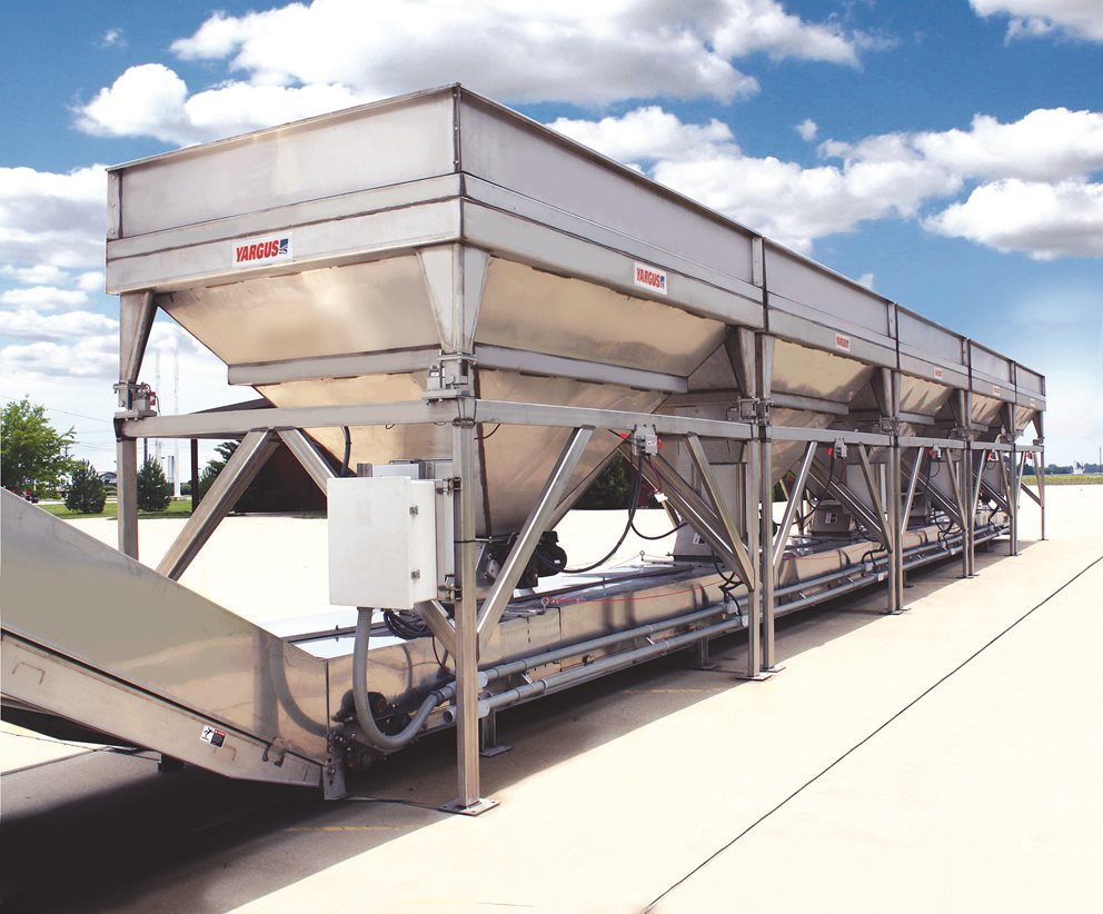Custom Yargus declining weight blending and conveying equipment for grain, feed, fertilizer, and seed. Image