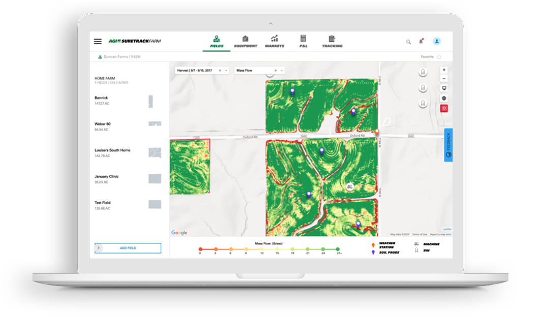 AGI Suretrack puts your farm's data in your hands so you can make important decisions throughout the year.